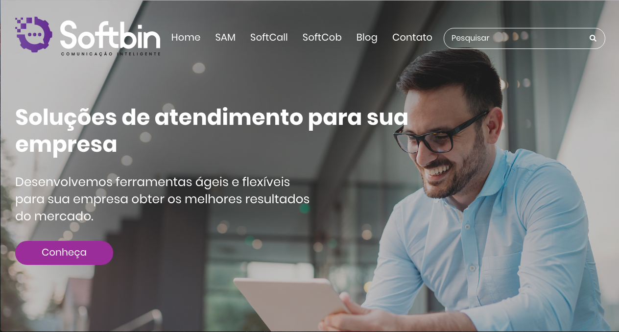 Novo site Softbin